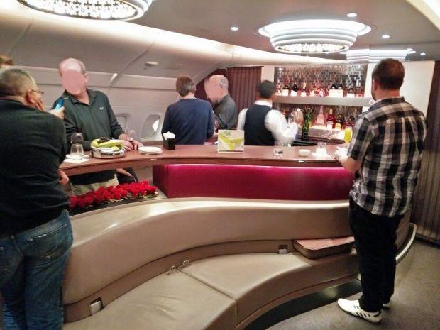 Bar del A380 de Qatar