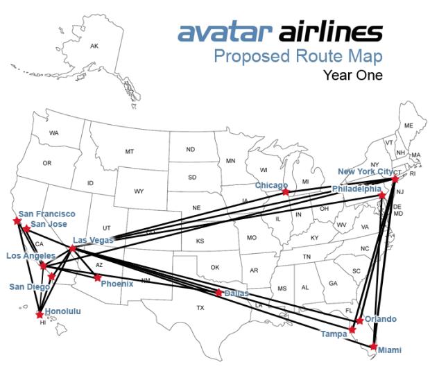 rutas avatar airlines
