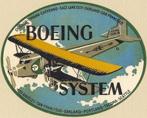 Promo del Model 80 volado por la United (Boeing)
