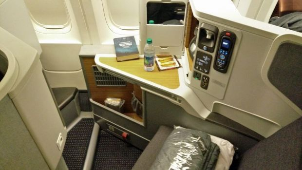 American Airlines 777-300ER business seat
