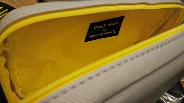 Cole Haan amenity kit American Airline