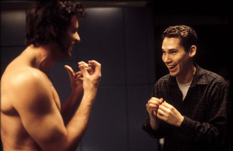 Singer et Jackman sur le tournage de X-men 2