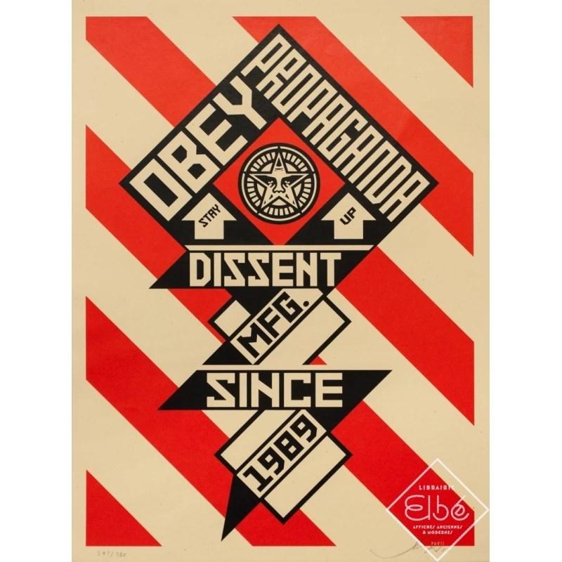 silkscreen poster obey propaganda