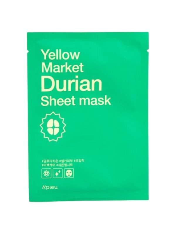 apieu yellow market durian sheet mask