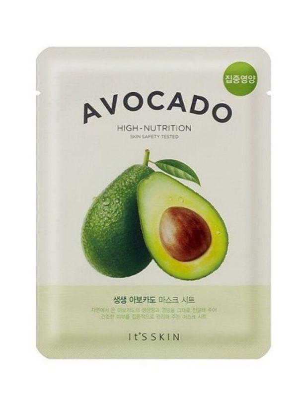 avocado mask sheet its skin