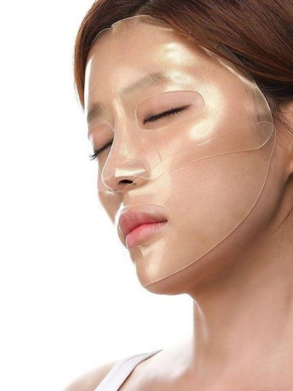 petitfee gold and snail hydrogel face mask pack (4)