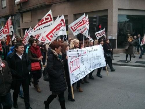 Samuel Folgueral también se sumó a la manifestación de los sindicatos