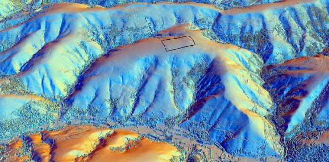 Reconstrucción 3D del territorio a partir de datos Lidar.