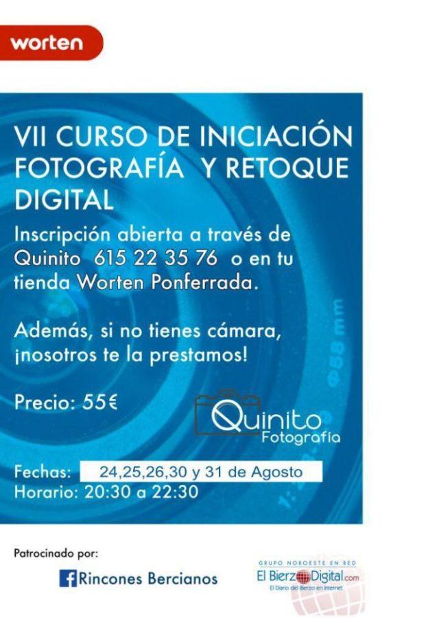 Cartel del VII Curso de Iniciación Fotografía y Retoque Digital