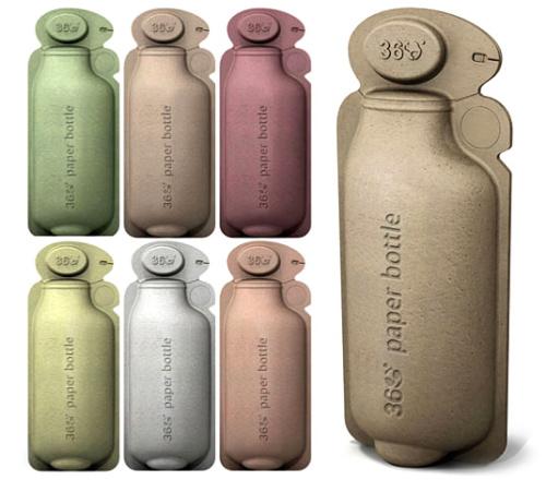 360 bottle - 360 bottle: botella de papel reciclable