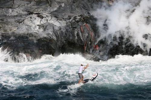surfeando - Surfeando el volcán