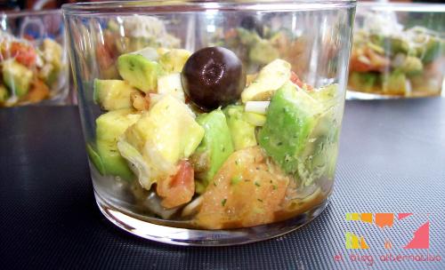 tartar de aguacate3 - Tartar de aguacate y tomate