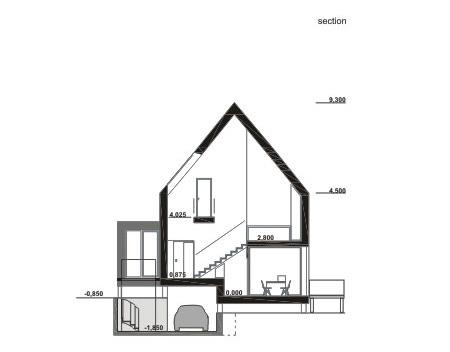 casa madera seccion transversal - Casa rural de madera de bajo consumo
