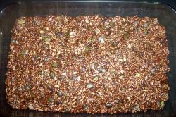 barritas energéticas con semillas y chocolate