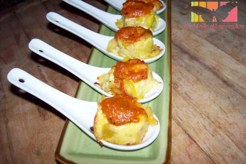 pudding puerros cucharita - terrina de puerros