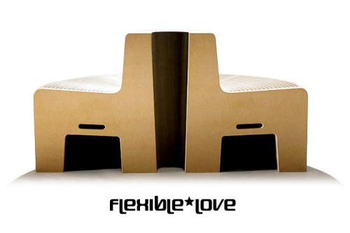 flexible love - FlexibleLove: sofá plegable de material reciclado