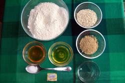 pan avena ingredientes - Receta de pan integral con avena y semillas