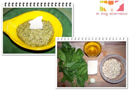 salsa pesto e ingredientes - Salsa pesto