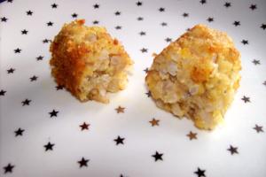 croquetas arroz partida - Croquetas de arroz y lentejas rojas