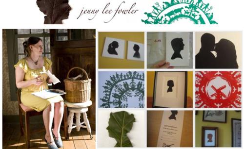 jenny lee fowler obras - Tu silueta en una hoja por la artista Jenny Lee Fowler