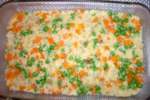 pastel de mijo2 - Pastel de mijo con verduritas y salsa de remolacha