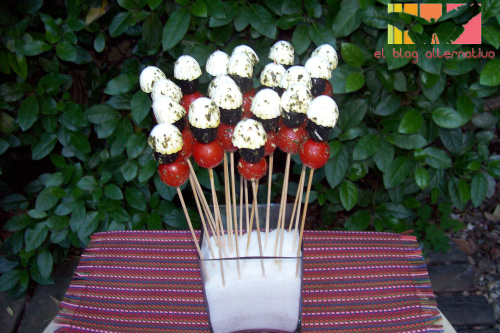 brochetas vegetarianas