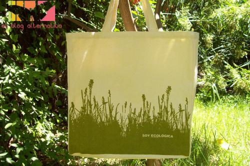 bolsa ecologica - Preciosa BOLSA ECOLÓGICA de tela de regalo con la revista Marie-Claire de junio del 2009