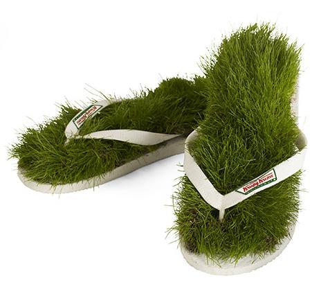 sandalias verdes - sandalias cesped
