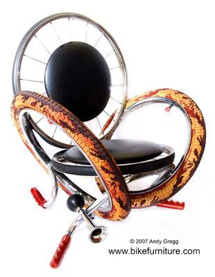 silla bici2 - Muebles con bicicletas recicladas