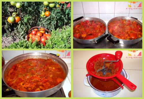 conserva tomate proceso 1 - Receta de conserva de tomate frito casero