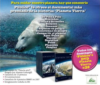 """planeta tierra - Consigue los documentales """"Planeta Tierra"""" con el periódico Público"""