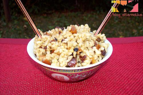 arroz frutos secos - Arroz integral con frutos secos al curry