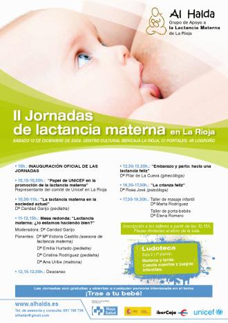 al halda - II Jornadas de Lactancia Materna de La Rioja el 12 de diciembre del 2009 con la presencia de Rosa Jové y Pilar de La Cueva