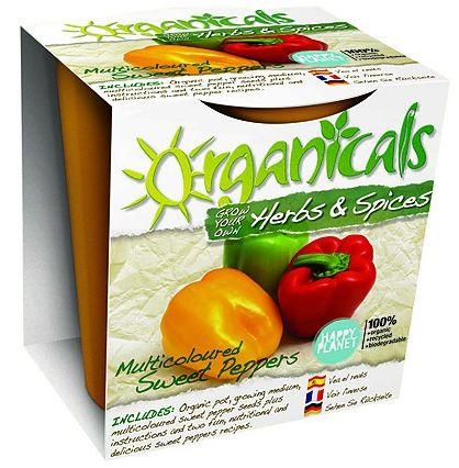 organicals kit botanico pimientos multicolores - Organicals: divertidos kits botánicos que ayudan a los niños a ser ecológicamente responsables