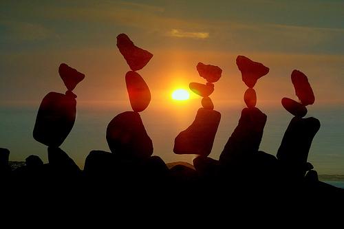 arte piedras3 - Arte con piedras en equilibrio: talento, naturaleza y mensaje