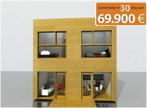 casa - QubicHouse: casa prefabricada moderna en 30 días y por 69.900 euros