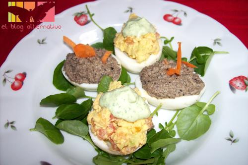 huevos rellenos - huevos-rellenos vegetarianos