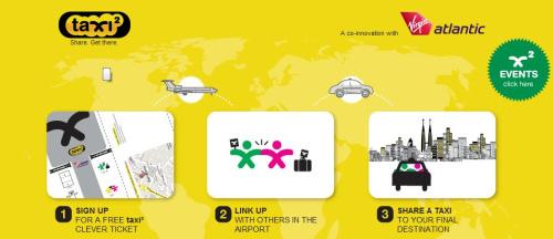 taxi2 - taxi<sup>2</sup>: comparte taxi desde el aeropuerto hasta tu destino final
