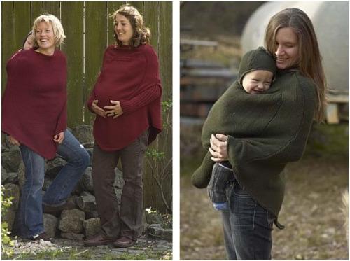 mamaponcho2 - Mamajacket y mamaponcho: juntitos y abrigaditos