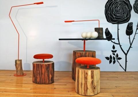 muebles madera ilan 480x339 - 5 ideas para decorar con troncos y ramas