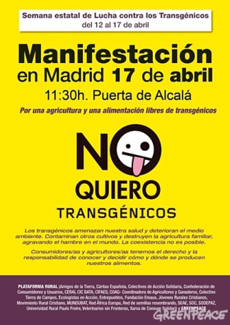 manifestacion contra transgenicos 2010