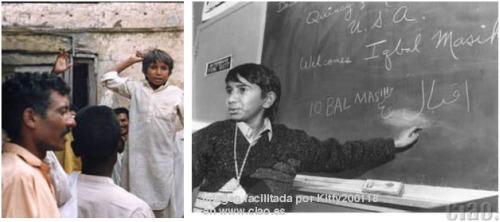 iqbal - IQBAL MASIH y su historia. 16 de abril: Día Internacional contra la Esclavitud Infantil