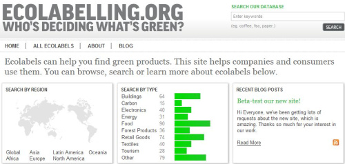 ecolabelling - Ecolabelling.org: información de los sellos que certifican los productos verdes
