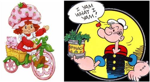 fresas - tartita de fresa y popeye