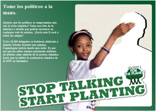deja de hablar, ponte a plantar