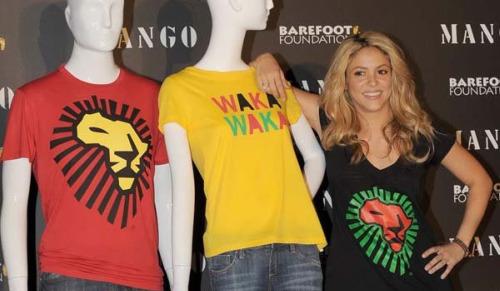 mango mundial - Camisetas solidarias de Shakira y Mango