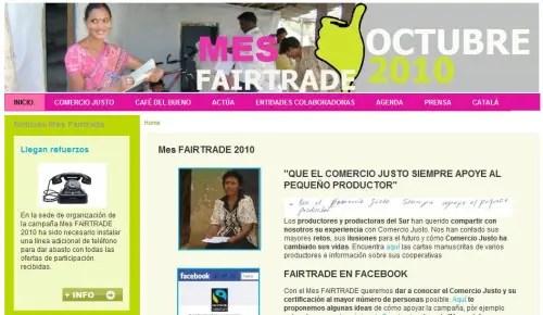 Mes FAIRTRADE Octubre 2010 - Mes FAIRTRADE 2010. Impulsando el Comercio Justo