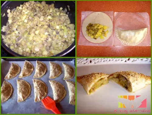 empanadillas collage - empanadillas de calabacin al curry