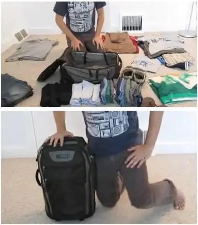 cómo hacer maleta