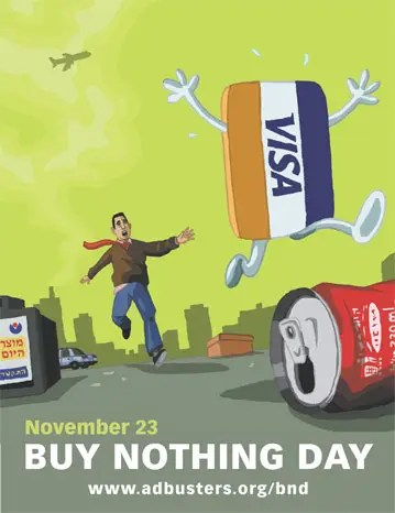 BUY NOTHING - BUY NOTHING day